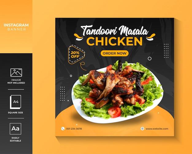 Chicken restaurant instagram social media premium banner
