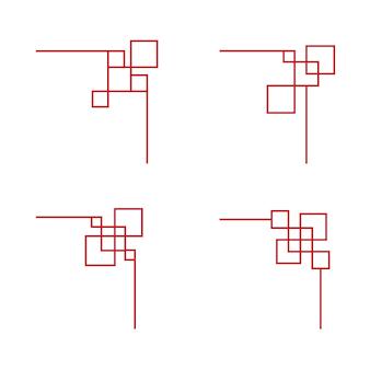 Chińska granica szablon projektu ilustracji wektorowych