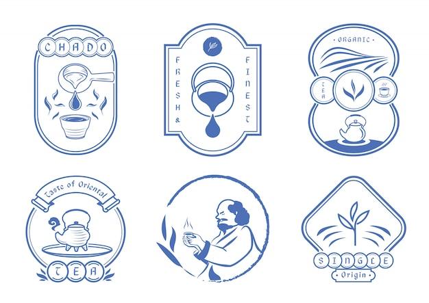 Chińska herbata z klasycznym niebieskim znaczkiem