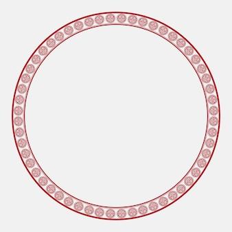 Chińska ramka lu symbol wzór czerwone kółko w motywie chińskiego nowego roku