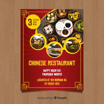 Chińska ulotka restauracji
