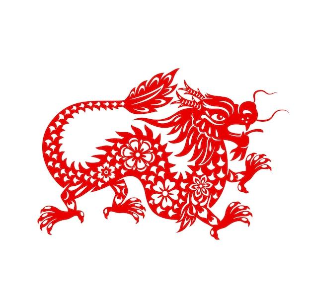 Chiński księżycowy smok nowego roku, znak zodiaku