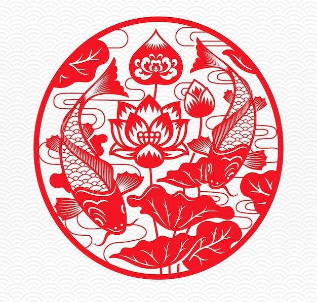 Chiński nowy rok symbol zodiaku wołu. ilustracja.