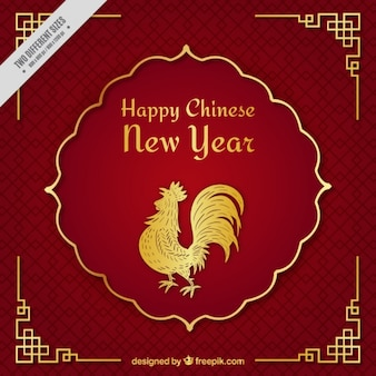Chiński nowy rok tła z kogutem