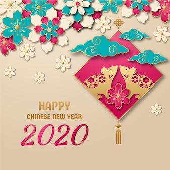 Chiński nowy rok w stylu papieru