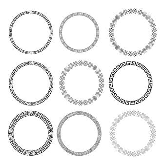 Chiński okrągły okrąg bez szwu