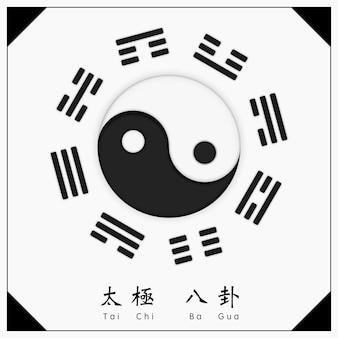 Chiński starożytny tradycyjny symbol yin yang