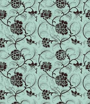 Chiński tło z kwiatami. wzór.