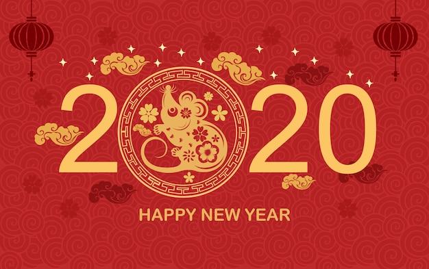 Chiński wiatr nowy rok 2020 rok szczurów