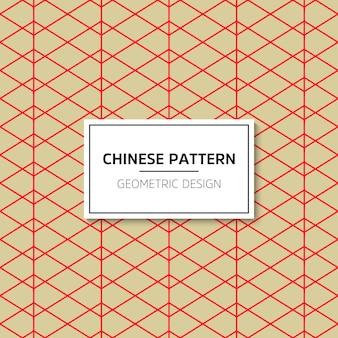 Chiński wzór. tło wektor czerwony ornament. ozdoba z tradycyjnym podbródkiem