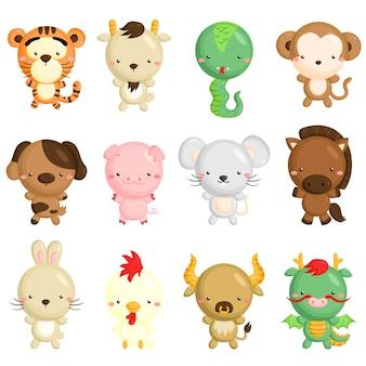 Chińskie zwierzęta zodiaku