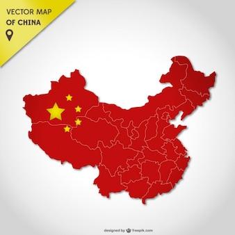 Chiny mapy wektorowe