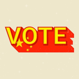 Chiny wybory głosowania tekst wektor demokracja