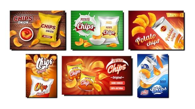 Chips snack zestaw kreatywnych opakowań