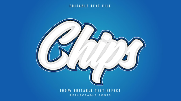 Chipsy efekt tekstowy w stylu 3d