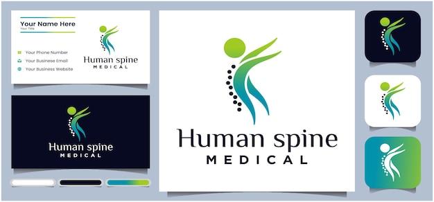 Chiropraktyka logo wirowania medyczne zdrowie wirowanie logo kształt logo z człowiekiem