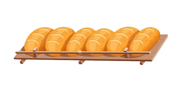 Chleb na półce. chrupiące ciasto piekarnicze baker
