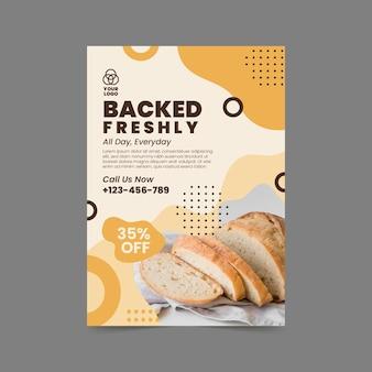 Chleb pionowy szablon ulotki