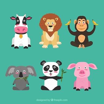 Chłodna kolekcja szczęśliwych zwierząt