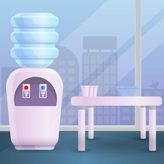 Chłodne biuro wody stylu cartoon ilustracji