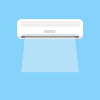 Chłodząca bryza klimatyzacji grafika wektorowa