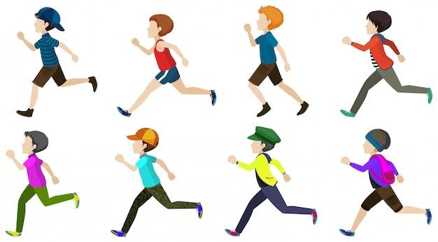 Chłopiec biegnie