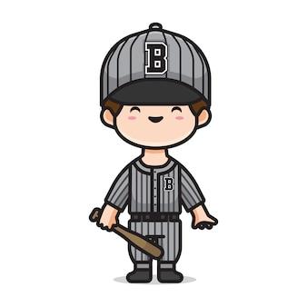 Chłopiec gra w baseball