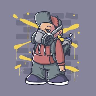 Chłopiec graffiti