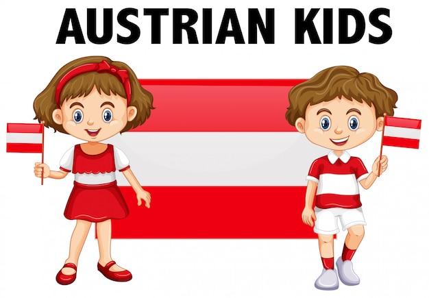 Chłopiec i dziewczynka z austrii