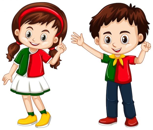 Chłopiec i dziewczynka z portugalii