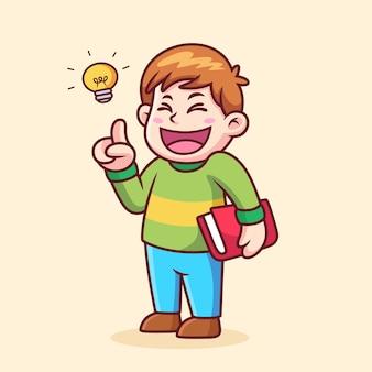Chłopiec ma pomysł na kreskówkę
