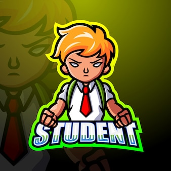 Chłopiec maskotki studencka ilustracja