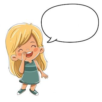 Chłopiec mówi lub coś mówi