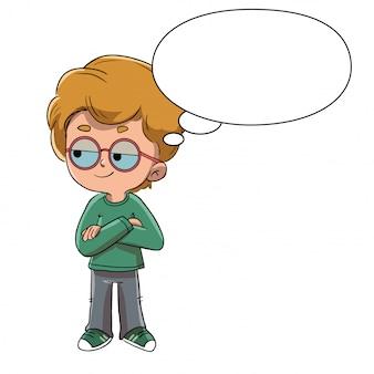 Chłopiec myśli o czymś