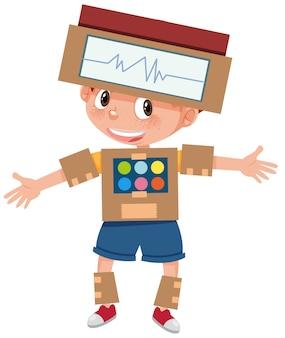 Chłopiec ubieranki robota