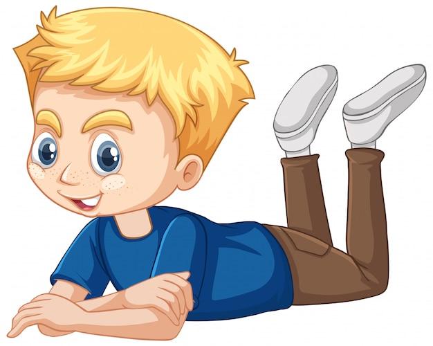 Chłopiec w niebieskiej koszuli
