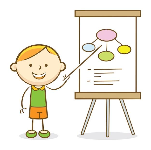 Chłopiec w prezentacji