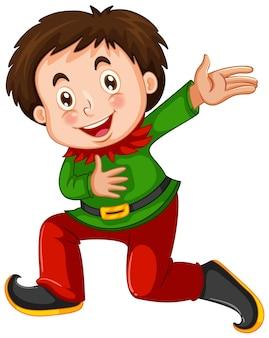 Chłopiec w stroju elfów