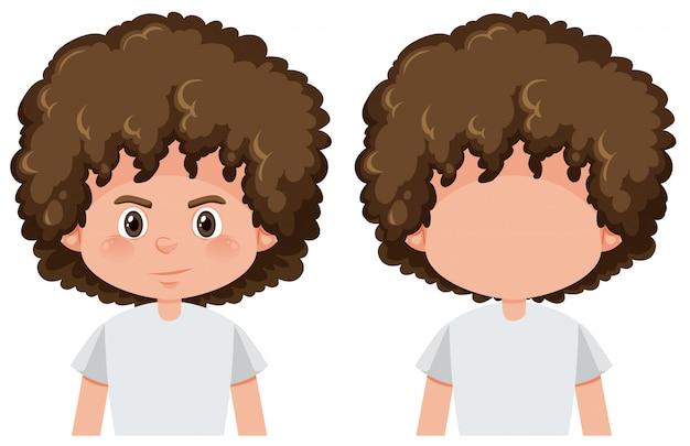 Chłopiec z twarzą i bez twarzy