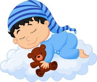 Chmura śpiące dziecko