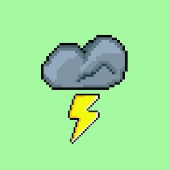 Chmura burzowa ze stylem pixel art