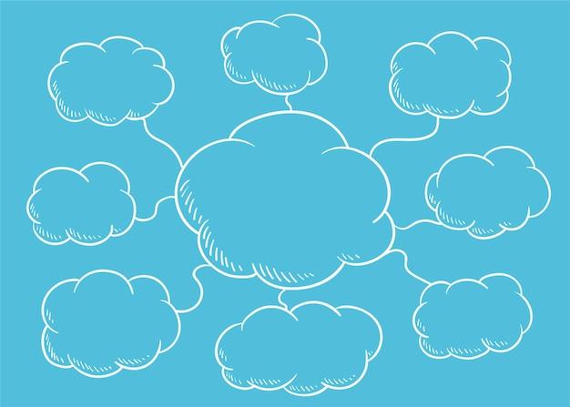 Chmura dymek ilustracja