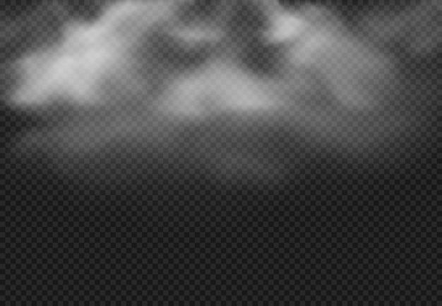 Chmura dymu. mgły chmury, dymiąca mgła i realistyczny chmurny skutek odizolowywaliśmy ilustrację