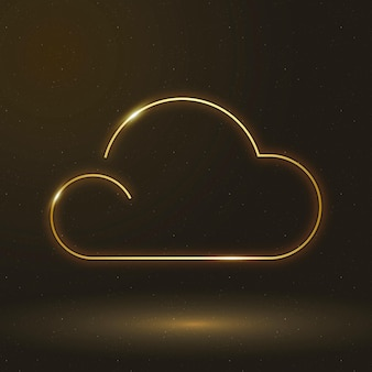 Chmura ikona wektor symbol pogody