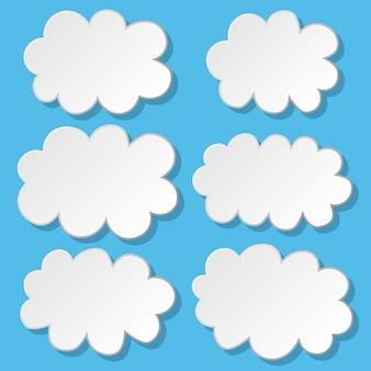 Chmura ikona zestaw ilustracji wektorowych