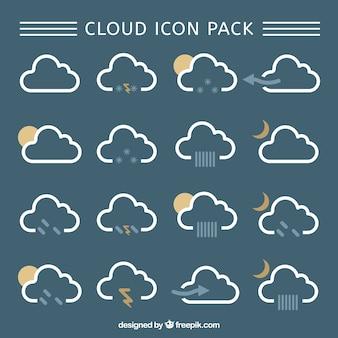 Chmura ikony pack