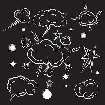 Chmura komiks projekt element ilustracja wektorowa