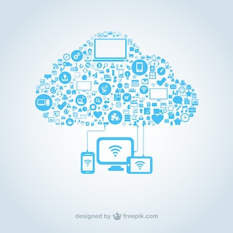 Chmura z ikon komputerowych