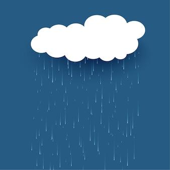 Chmura ze spadającym deszczem w tle
