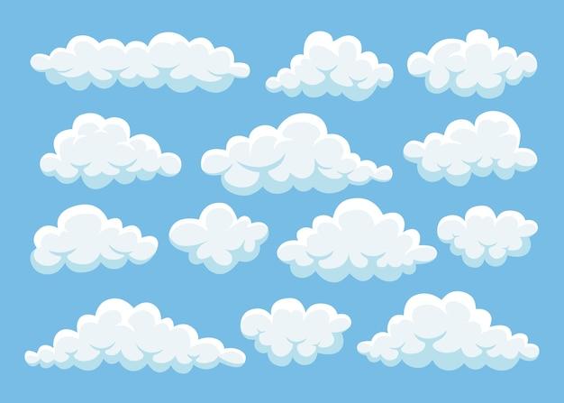 Chmury na niebieskim niebie. cloudscape na tle. niebo.